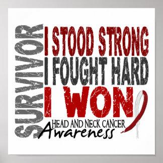 Survivor 4 Head Neck Cancer Posters