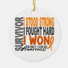 Survivor 4 Kidney Cancer Ceramic Ornament