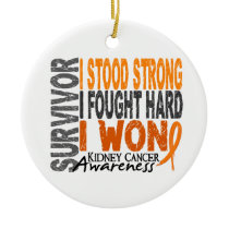 Survivor 4 Kidney Cancer Ceramic Ornament