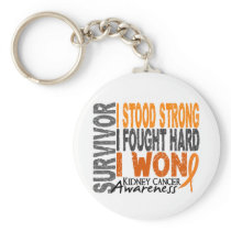 Survivor 4 Kidney Cancer Keychain