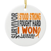 Survivor 4 Leukemia Ceramic Ornament