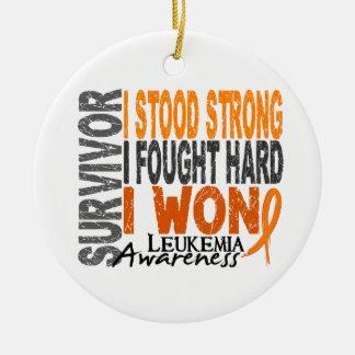 Survivor 4 Leukemia Ceramic Ornament
