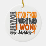 Survivor 4 Leukemia Double-Sided Ceramic Round Christmas Ornament