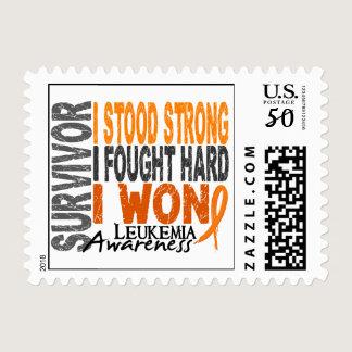 Survivor 4 Leukemia Postage