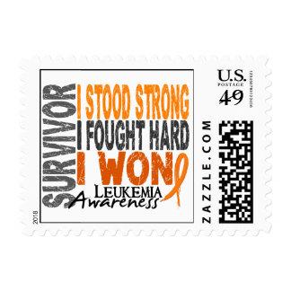 Survivor 4 Leukemia Stamps