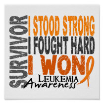 Survivor 4 Leukemia Poster