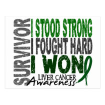 Survivor 4 Liver Cancer Postcard