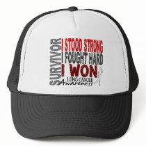 Survivor 4 Lung Cancer Trucker Hat