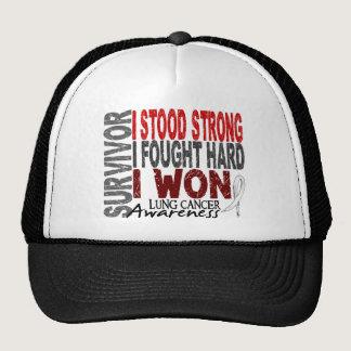 Survivor 4 Lung Cancer Trucker Hat