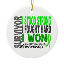 Survivor 4 Lymphoma Non-Hodgkin's Ceramic Ornament
