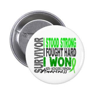 Survivor 4 Lymphoma Non-Hodgkin's Pinback Button
