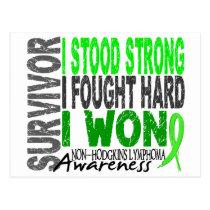 Survivor 4 Lymphoma Non-Hodgkin's Postcard