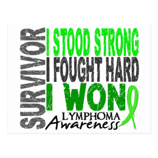 Survivor 4 Lymphoma Postcard