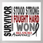 Survivor 4 Melanoma Posters