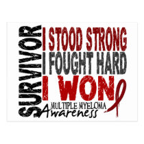 Survivor 4 Multiple Myeloma Postcard
