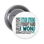Survivor 4 Ovarian Cancer 2 Inch Round Button