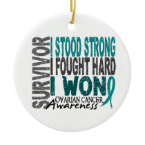 Survivor 4 Ovarian Cancer Ceramic Ornament