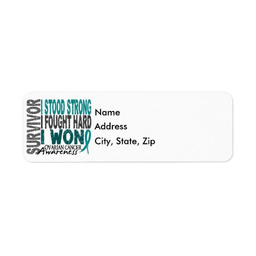 Survivor 4 Ovarian Cancer Custom Return Address Labels