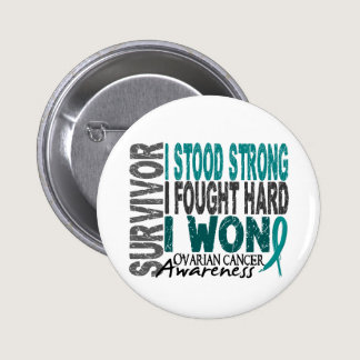 Survivor 4 Ovarian Cancer Pinback Button