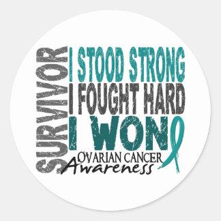 Survivor 4 Ovarian Cancer Round Stickers