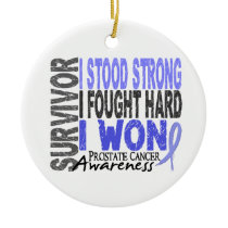 Survivor 4 Prostate Cancer Ceramic Ornament