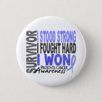 Survivor 4 Prostate Cancer Pinback Button