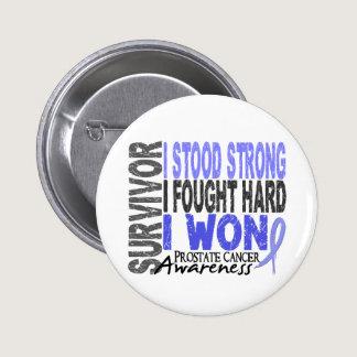 Survivor 4 Prostate Cancer Pinback Button