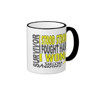 Survivor 4 Sarcoma Ringer Coffee Mug