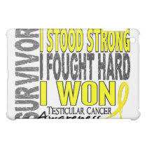 Survivor 4 Testicular Cancer iPad Mini Cover