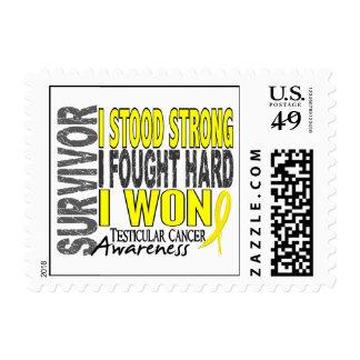 Survivor 4 Testicular Cancer Stamps