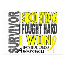 Survivor 4 Testicular Cancer Postcard