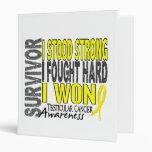 Survivor 4 Testicular Cancer Vinyl Binder