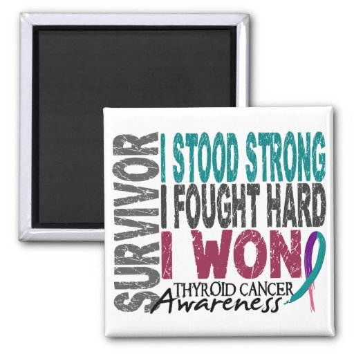 Survivor 4 Thyroid Cancer Fridge Magnet