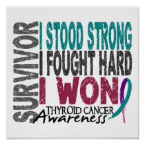 Survivor 4 Thyroid Cancer Poster