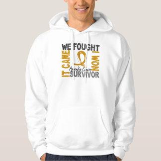 Survivor 5 Appendix Cancer Hooded Pullover