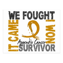 Survivor 5 Appendix Cancer Postcard