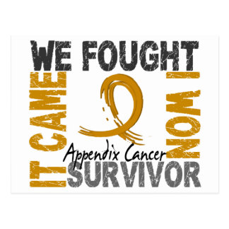 Survivor 5 Appendix Cancer Postcard