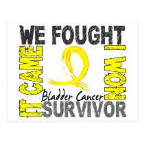Survivor 5 Bladder Cancer Postcard