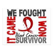 Survivor 5 Blood Cancer Postcard
