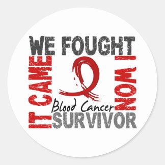Survivor 5 Blood Cancer Stickers