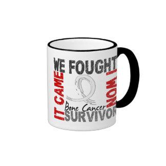 Survivor 5 Bone Cancer Ringer Coffee Mug