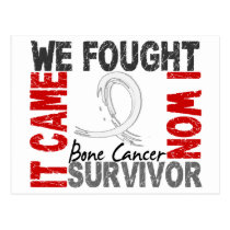 Survivor 5 Bone Cancer Postcard