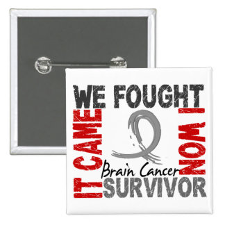 Survivor 5 Brain Cancer Button