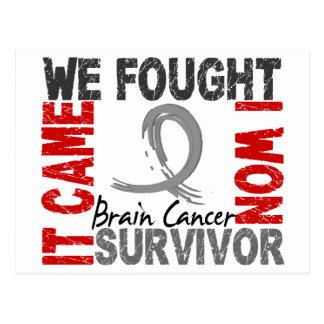 Survivor 5 Brain Cancer Postcard