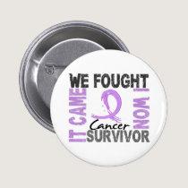 Survivor 5 Cancer Pinback Button
