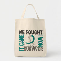 Survivor 5 Cervical Cancer Tote Bag