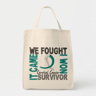 Survivor 5 Cervical Cancer Tote Bag