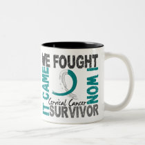 Survivor 5 Cervical Cancer Two-Tone Coffee Mug
