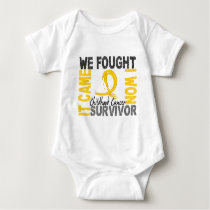 Survivor 5 Childhood Cancer Baby Bodysuit
