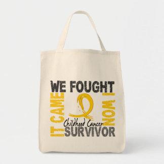 Survivor 5 Childhood Cancer Tote Bag